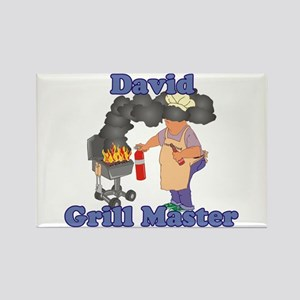 Grill Master David Rectangle Magnet